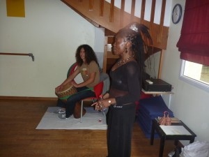 Mbékoum et son musicien